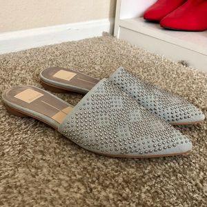 Dolce Vita Denim Studded Flats Size 8